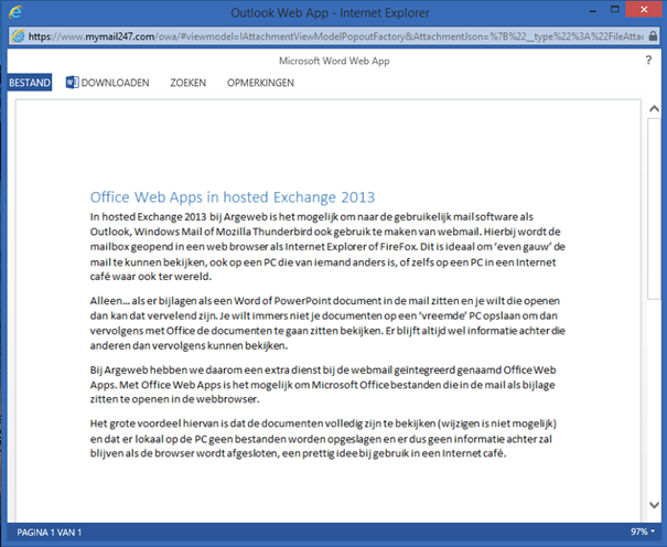Office Web Apps preview