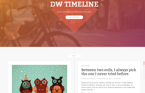 dw-timeline wordpress theme