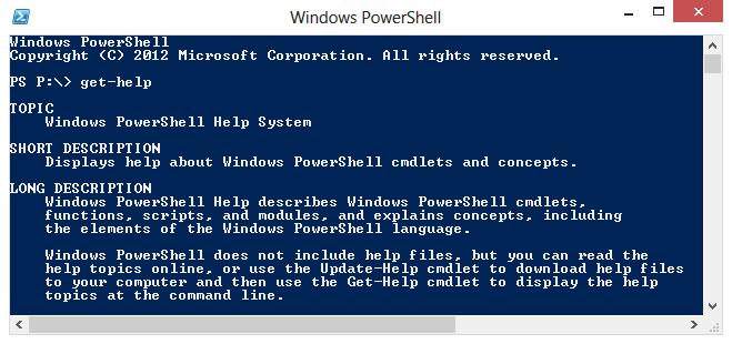 Help functie in PowerShell