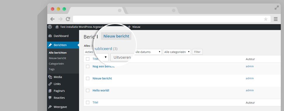 WordPress berichten
