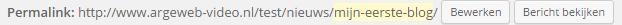 URL met de categorie