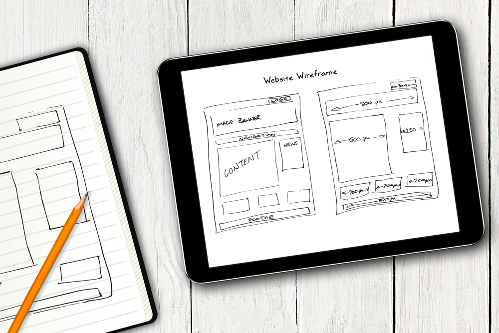 Wireframe website