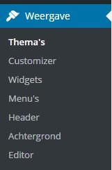 weergave thema's