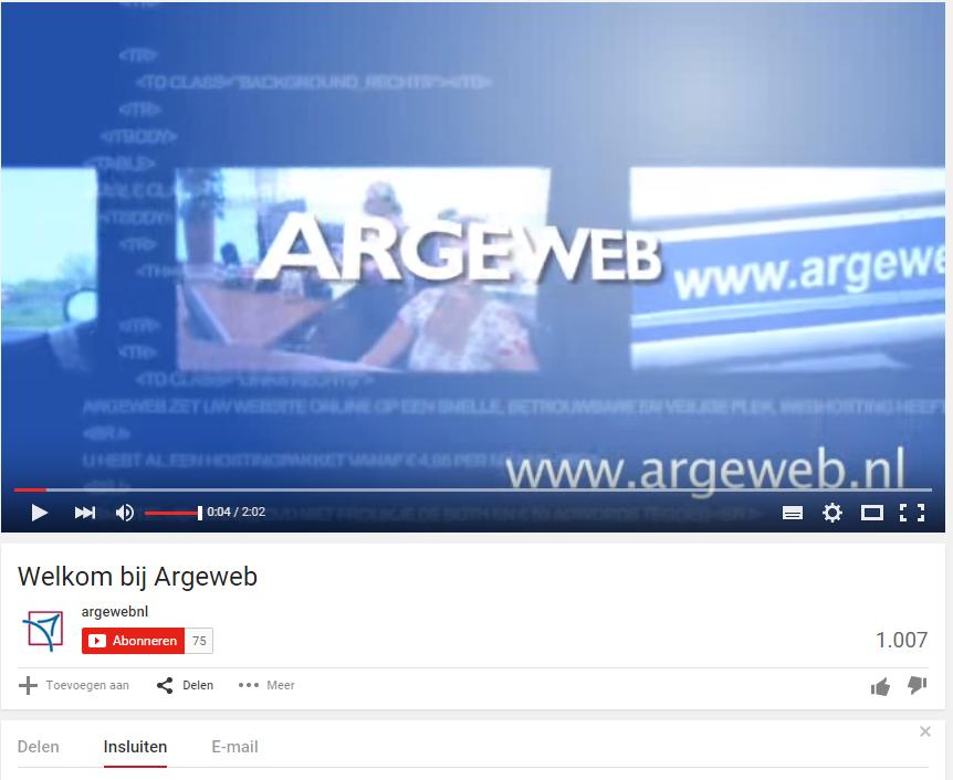 Video toevoegen website