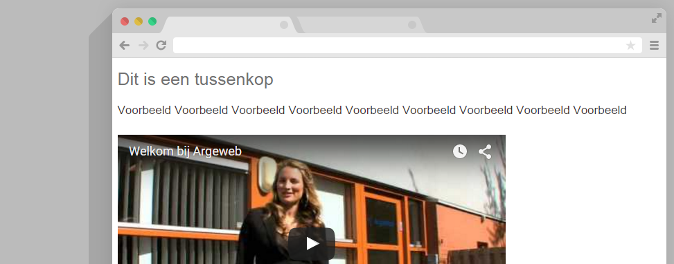 WordPress video in tekst