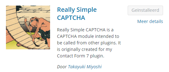 Captcha formulier WordPress