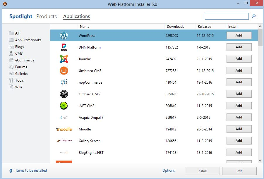 WPI applicaties Windows VPS