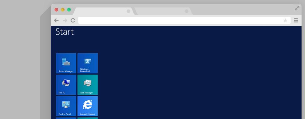 Startscherm Windows Server 2012 R2