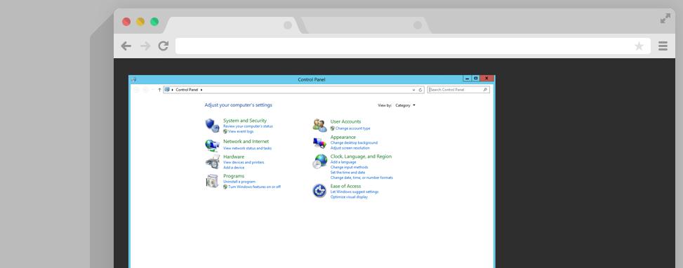 Control Panel sneltoetsen Windows Server