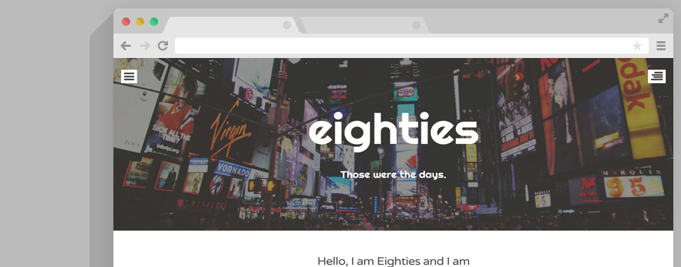 eighties wordpress thema