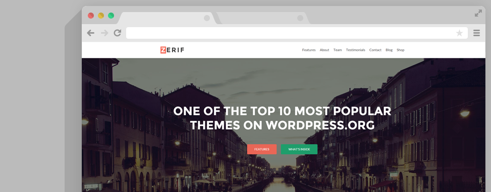 zeriff wordpress thema