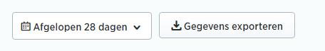 Periode selecteren voor Twitter analyse