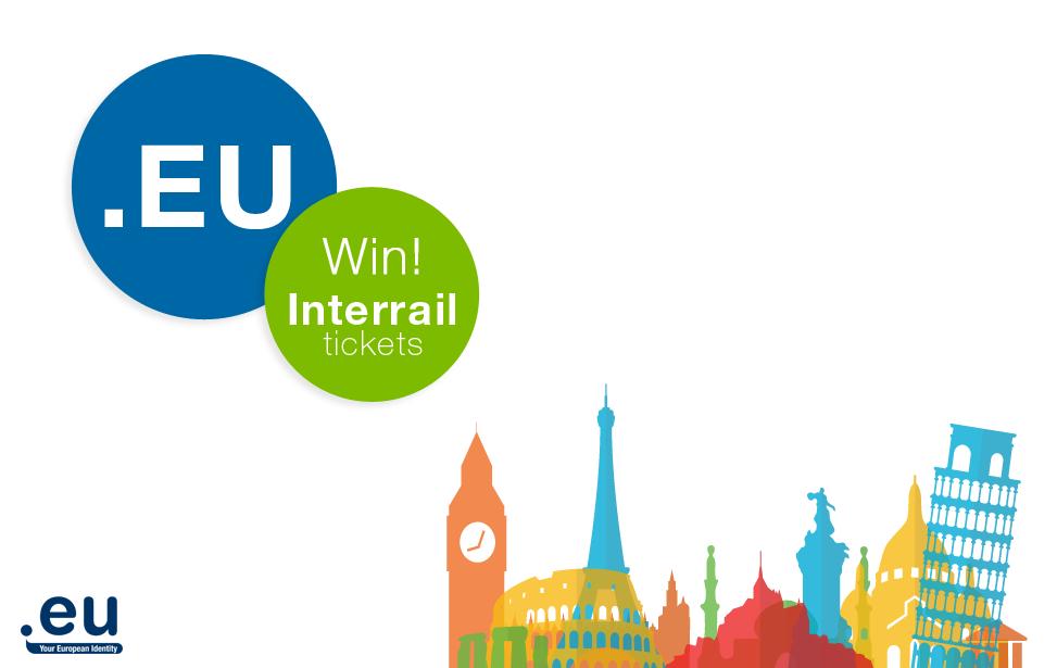 Win twee interrail tickets door Europa bij het registreren van een domeinnaam
