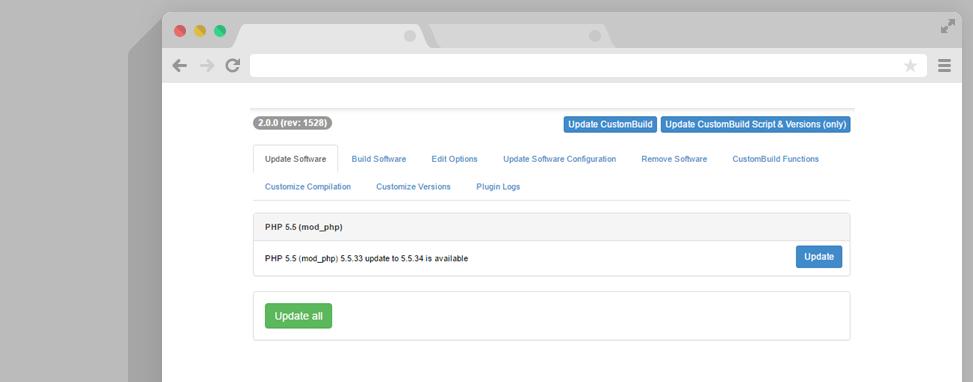 DirectAdmin PHP updaten
