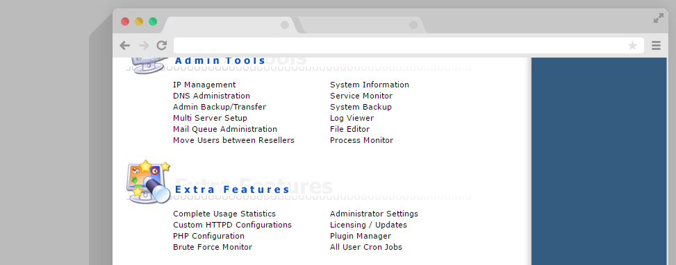 Plugin manager DirectAdmin