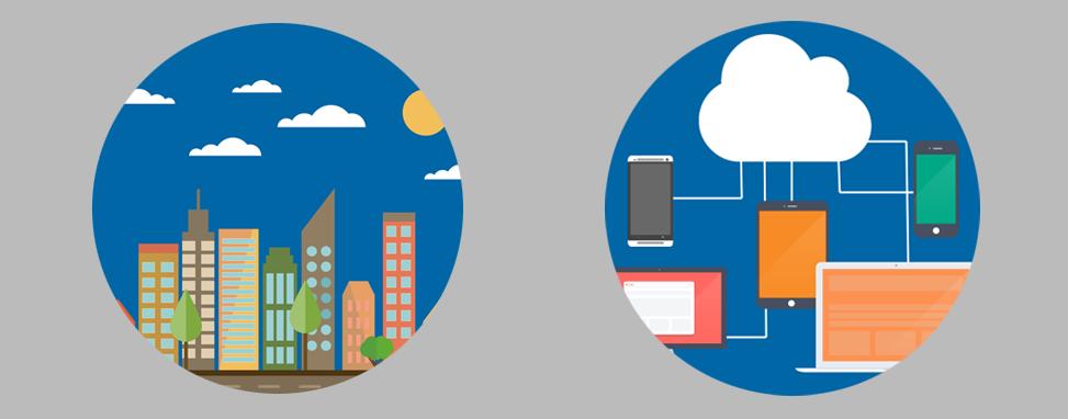 Vergelijking internet met stad