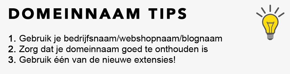Domeinnaam tips