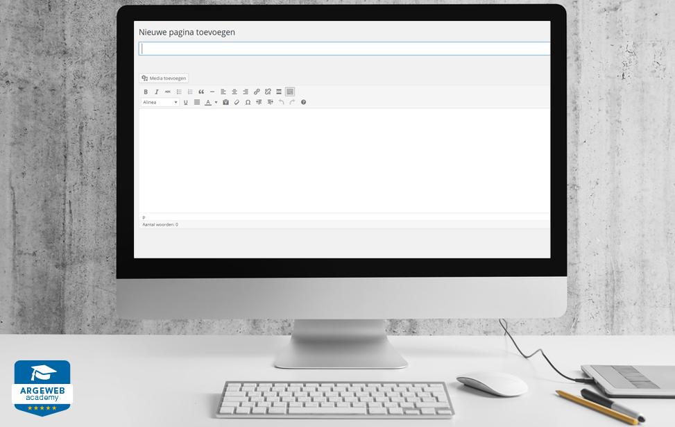 Paginas en berichten aanmaken in wordpress