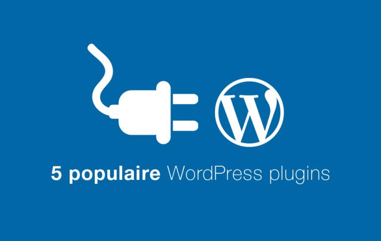 5 wordpress plugins