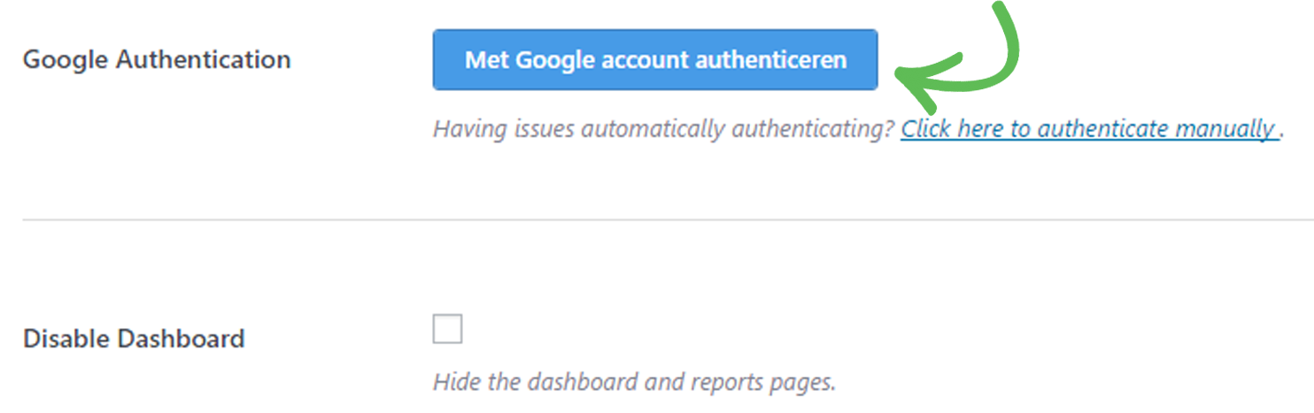 Google account authenticeren