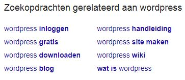 Google suggestie