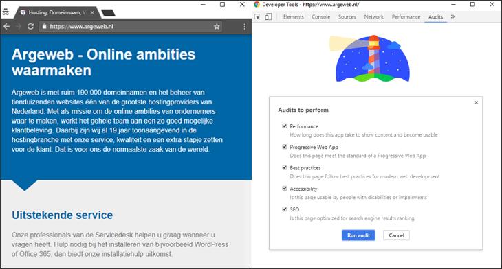 Lighthouse Chrome DevTools