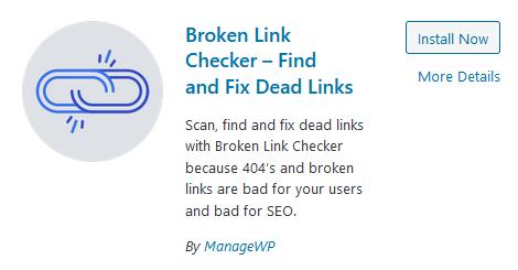 Broken Links Checker Plugin voor WordPress