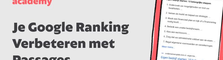 google ranking verbeteren met passages