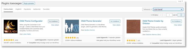 wordpress child theme configurator plug-in