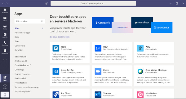 microsoft teams apps