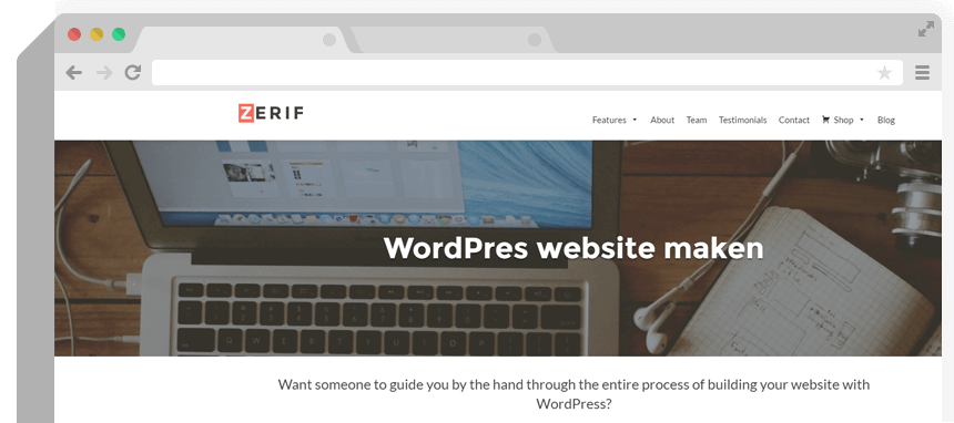 WordPress website maken voorbeeld