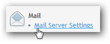 Mail server settings