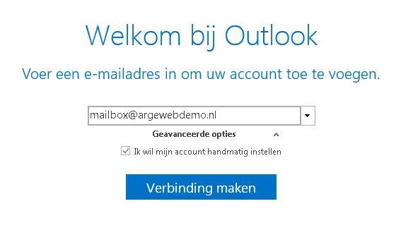 b9936d2be960f2 2) Als u nog niet eerder een e-mailaccount in Outlook heeft ingesteld, kunt  u meteen doorgaan naar de onderstaande stappen.