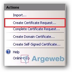 Create Certificate Request...