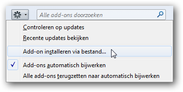 Add-on installeren via bestand
