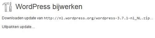 Wordpress wordt bijgewerkt