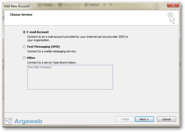E-mail service toevoegen Outlook 2010