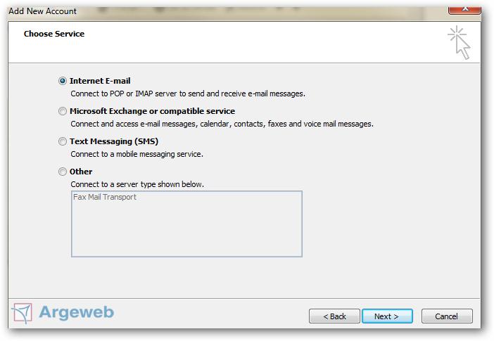 IMAP of POP instellen Outlook 2010