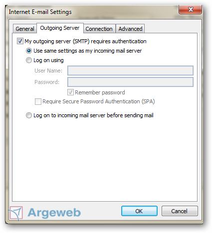 Uitgaande mailserver Outlook 2010